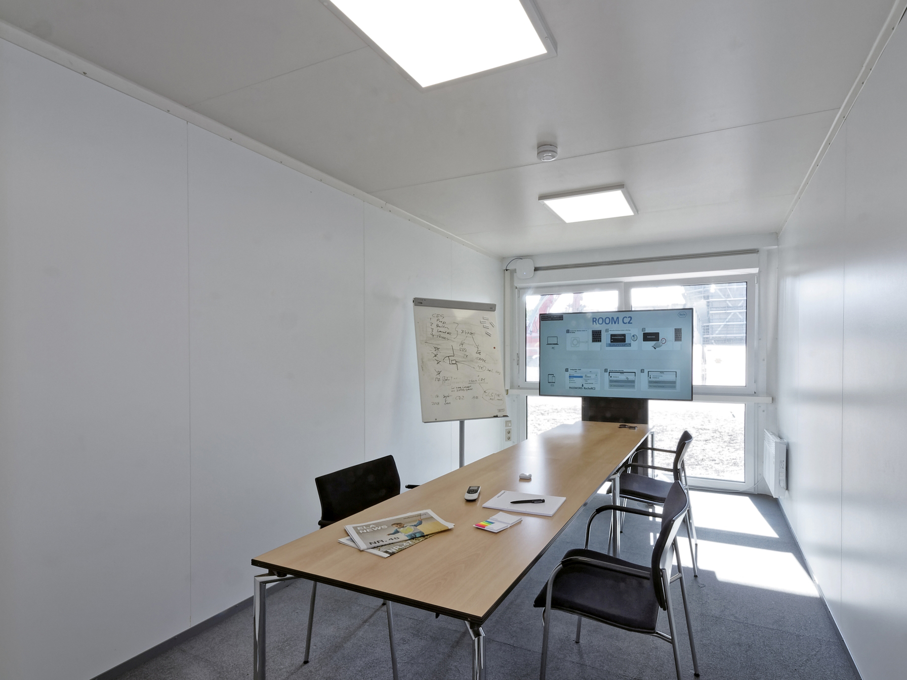 The functional meeting rooms on the ground floor of the ELA facility were ready for immediate occupancy.
