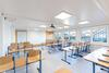 Bright, fully air-conditioned classrooms create a friendly and productive learning atmosphere.