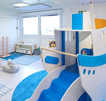 Bright, friendly rooms create an atmosphere of well-being for children.