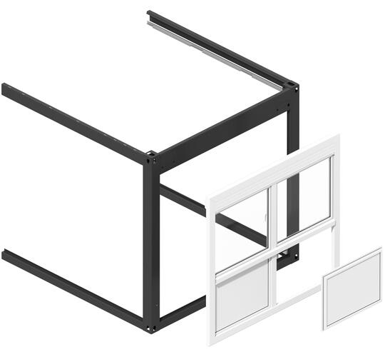 ELA Container - clip-on frames and elements