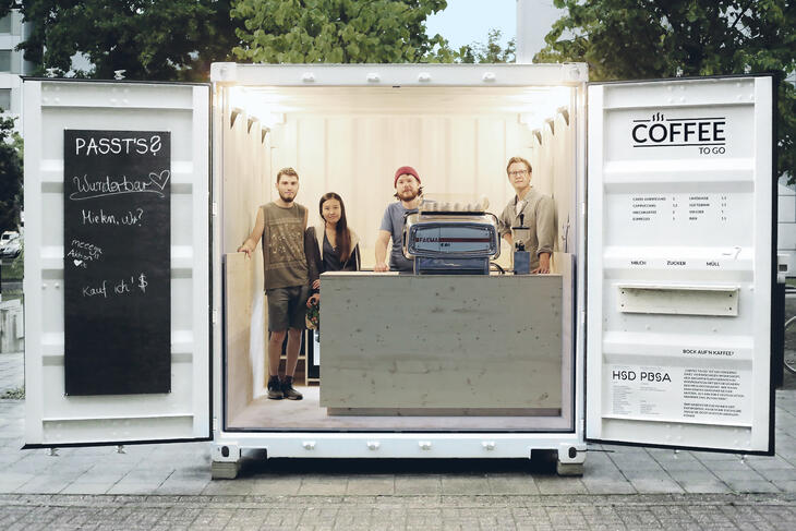 ELA Container - Mobiler Coffee to go Verkaufscontainer